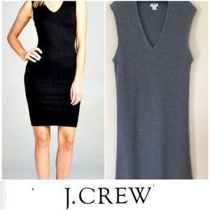 J. Crew Ribbed V Neck Sleeveless Sweater Dress